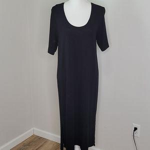 Madewell Black Short Sleeve Tee Dress